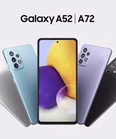 Samsung Galaxy A52 and A72 Phones