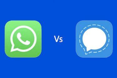 WhatsApp and Signal App